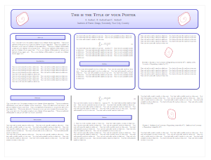 How to make a poster with LaTeX